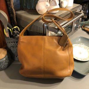Honey Colour Coach Leather Bag